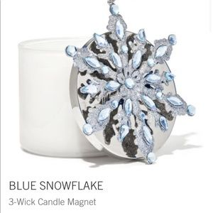 Blue Snowflake 3 Wick Candle Magnet